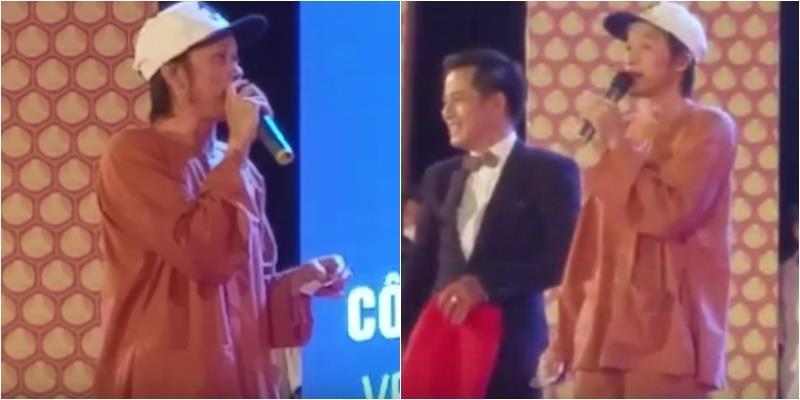 Phản ứng bất ngờ của Hoài Linh khi bị khán giả chọi đá lên sân khấu
