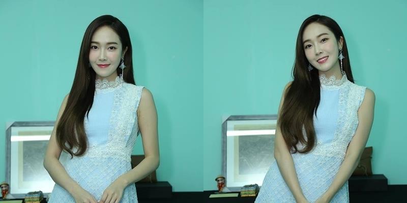 Cận cảnh nhan sắc xinh đẹp của Jessica trong hậu trường trước giờ G