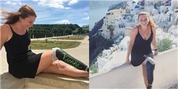 Cô gái mang chân giả 'phượt' khắp châu Âu