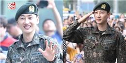 """4 """"mẩu"""" SUJU cùng 1000 fan chào đón Eunhuyk xuất ngũ quá hoành tráng"""