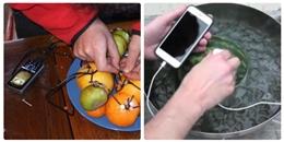Giải mã sự thật về các clip hướng dẫn dùng trái cây để sạc pin điện thoại