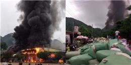 Clip: Cháy cực lớn tại chợ Tân Thanh - Lạng Sơn