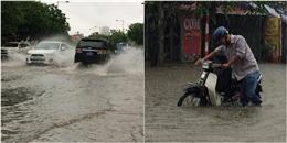 Hà Nội: nhiều tuyến phố chìm trong biển nước