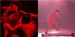 """Clip tổng hợp các góc quay sự cố G-Dragon rơi xuống """"hố"""" trên sân khấu"""