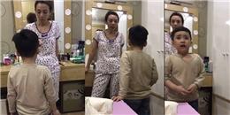 Bị cô giáo phê bình, Andy khóc nức nở xin lỗi mẹ Thu Trang