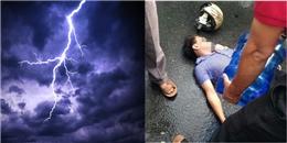 Vĩnh Phúc: Đang đi đường nam thanh niên bị sét đánh trúng