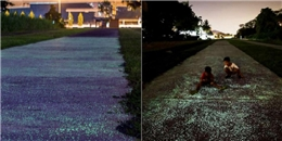 Cả một con đường phát sáng dưới chân vào ban đêm đang chờ bạn ở Singapore
