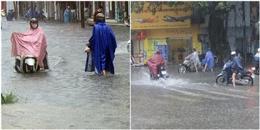 Huế: Ảnh hưởng của bão số 4, nhiều tuyến đường chìm trong biển nước