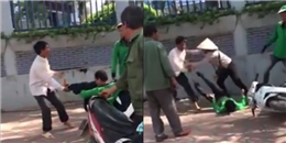 Hà Nội: Tranh giành khách, tài xế Grab Bike cầm gạch ném xe ôm truyền thống