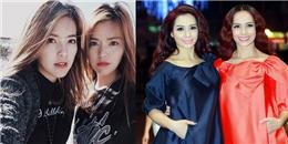 Những cặp chị em 'giống nhau như đúc' của sao Việt