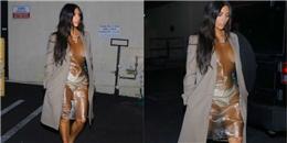 yan.vn - tin sao, ngôi sao - Cần gì hở trước hở sau, Kim Kardashian diện cả váy trong suốt ra phố