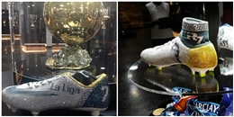 Trầm trồ với đôi giày pha lê độc nhất vô nhị in tên Cristiano Ronaldo