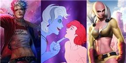 'Rụng tim' khi các nhân vật hoạt hình 'lột xác' bằng màn hoán đổi giới tính