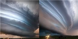 Cận cảnh siêu bão lốc xoáy đẹp như tranh vẽ trên bầu trời nước Mỹ