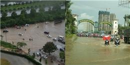 Nhiều tuyến đường tại Hà Nội ngập sau cơn mưa lớn sáng nay
