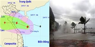 Bão số 4: Ảnh hưởng trực tiếp tới các tỉnh từ Nghệ An đến Quảng Bình