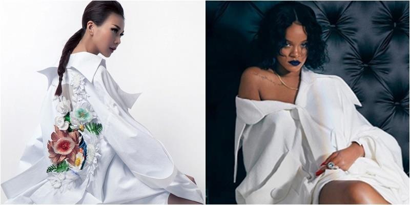Mỹ nhân Việt mặc cùng kiểu váy với Rihanna: Ai đẹp hơn?