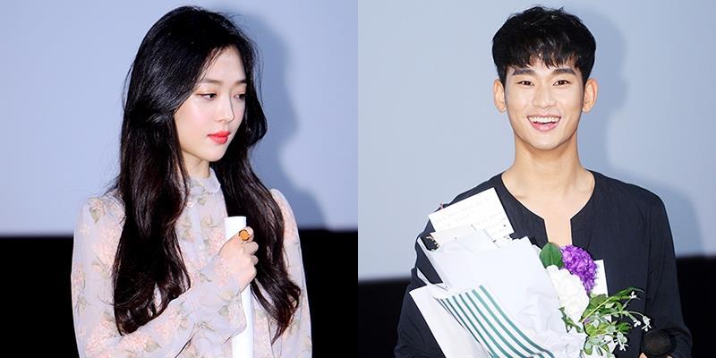 Sau scandal lộ cảnh nóng, Sulli e thẹn sánh bước bên Kim Soo Hyun
