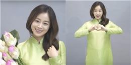 Xem clip mới thấy trọn sự duyên dáng của Kim Tae Hee trong tà áo dài Việt Nam