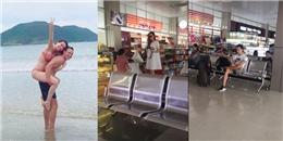 Hồ Ngọc Hà - Kim Lý đưa Subeo quay lại Sài Gòn sau chuyến du lịch Côn Đảo