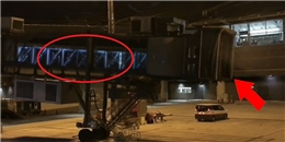 Đoàn người bí ẩn xuất hiện bất thường trong ống lồng tại sân bay Thái