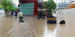 Mưa lớn, người dân Hà Nội khốn khổ vì chìm trong