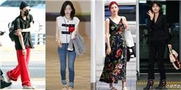 """G – Dragon, Taeyang """"đọ dáng"""" thời trang áo ngủ tại sân bay"""
