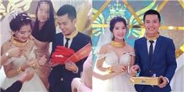 Đám cưới siêu khủng ở Nghệ An: Cô dâu được 'đắp' vàng, sổ đỏ, ô tô
