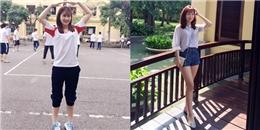 Nữ sinh NEU được mệnh danh 'hot girl thể dục' nhờ bức ảnh siêu xinh ở sân trường