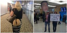 Những hình ảnh ai nhìn cũng bật cười tại sân bay