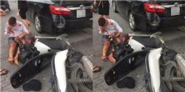 Tông xe, nam thanh niên ôm 'khư khư' chú chó trong lòng dù bị thương nặng