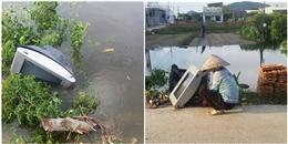 U22 Việt Nam thua Thái Lan, thanh niên tức giận ném cái