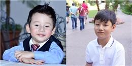 Con trai Quang Dũng lớn nhanh 'như thổi', điển trai như hotboy