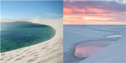 Giữa sa mạc đầy cát vẫn tồn tại một hồ nước tuyệt đẹp thế này