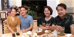 Hải Băng hạnh phúc đi ăn tối cùng bố mẹ chồng sau một năm đính hôn
