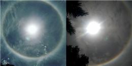 Ngỡ ngàng hiện tượng quầng mặt trời cực đẹp ở Yên Bái