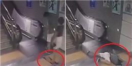 Rùng mình khoảnh khắc người phụ nữ lọt thỏm xuống hố ở ga tàu điện ngầm