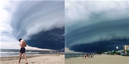 Sầm Sơn xuất hiện mây lạ như người ngoài hành tinh chuẩn bị 'xâm chiếm' trái đất