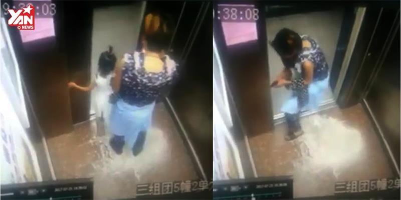 Mẹ dán mắt vào điện thoại, để con gái bị kẹt tay vào cửa thang máy trong đau đớn