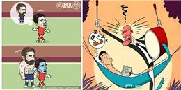 Loạt ảnh chế Champions League: Messi đã lớn, CR7 một mình cân APOEL