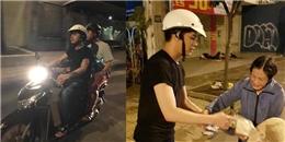 yan.vn - tin sao, ngôi sao - Noo Phước Thịnh giản dị đi xe máy, cùng fan làm từ thiện trong đêm