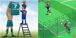 Biếm hoạ: Neymar khóc như con nít khi bị Cavani giành Penalty