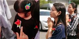 Sài Gòn: Người trẻ đổ về các chùa dịp lễ Vu lan, thả chim phóng sinh và cài hoa hồng lên áo
