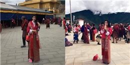 yan.vn - tin sao, ngôi sao - Thủy Tiên mặc trang phục truyền thống của Bhutan, hành hương về đất Phật