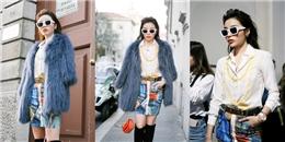 yan.vn - tin sao, ngôi sao - Hoa hậu Kỳ Duyên diện hàng hiệu khủng, nổi bật trên hàng đầu ở Tuần lễ thời trang Milan
