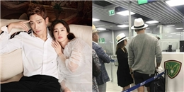 yan.vn - tin sao, ngôi sao - Vợ chồng Bi Rain - Kim Tae Hee diện mũ đôi tình cảm, nổi bần bật tại sân bay Ý