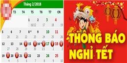 Đã có thông báo chính thức, Tết Nguyên Đán năm nay được nghỉ hẳn 7 ngày nhé!