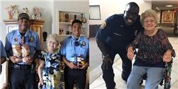 Cảnh sát Mỹ đến cung cấp lương thực cho cụ bà 94 tuổi khi bão Irma ập đến khiến dân mạng