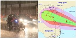 Ảnh hưởng bão số 10, Sài Gòn mưa như thác đổ