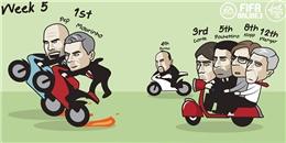 Biếm hoạ vòng 5 NHA: Thành Manchester mở hội, Chelsea và Arsenal tự níu chân nhau